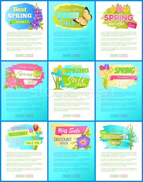 Stockfoto: Collectie · voorjaar · groot · verkoop · af · advertentie