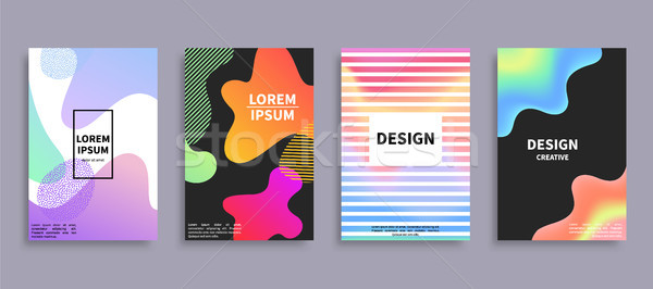 Design Creative Covers Set Vector Illustration Stock photo © robuart