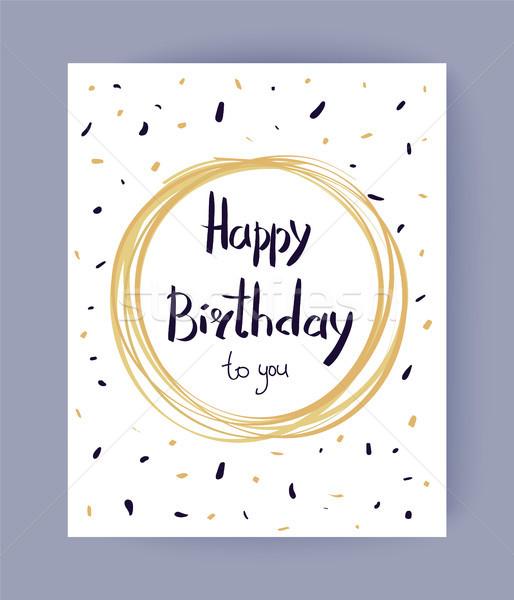 Happy Birthday to You Congrats Vector Illustration Stock photo © robuart