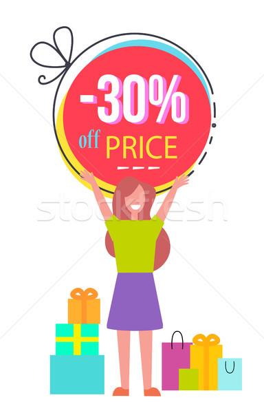 30 ár el promóciós poszter boldog Stock fotó © robuart