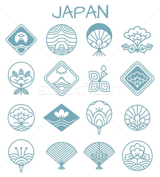 Japans iconen ongebruikelijk patronen vorm traditioneel Stockfoto © robuart