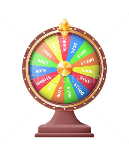 Wiel geluk wielen automatisch gokken machine Stockfoto © robuart