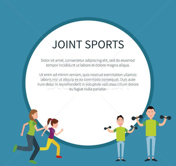 Congiunto sport poster frame testo cerchio Foto d'archivio © robuart
