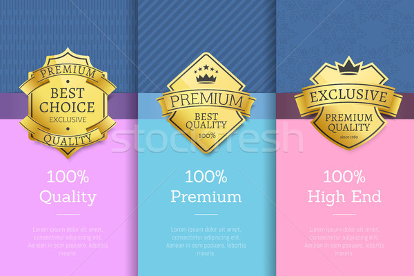 100 Quality Premium High End Standard Posters Stock photo © robuart