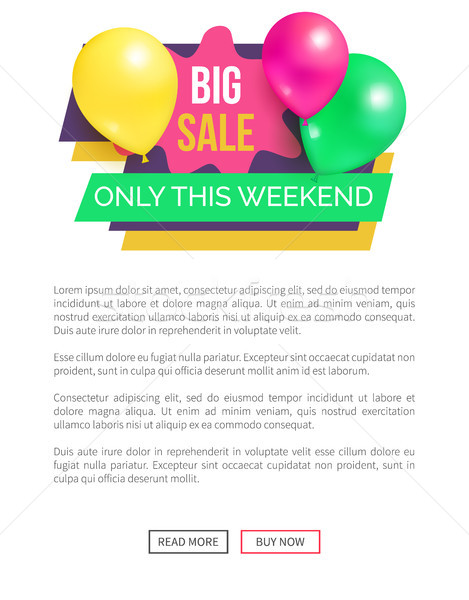 Big Sale Only this Weekend Hot Price Promo Sticker Stock photo © robuart