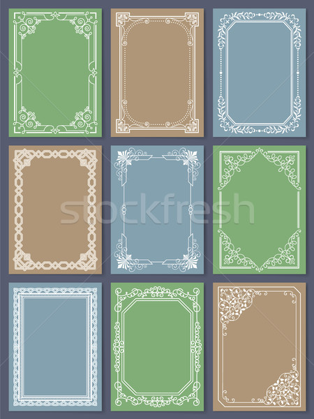 Decorative Frames Set of Curved Graphic Ornament Stock photo © robuart