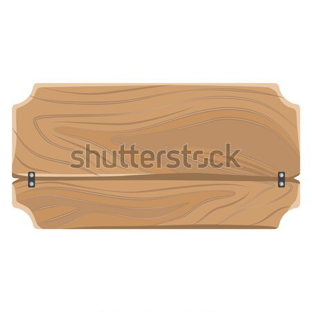 Wooden Sign with Metal Clips Place for Text Vector Stock photo © robuart
