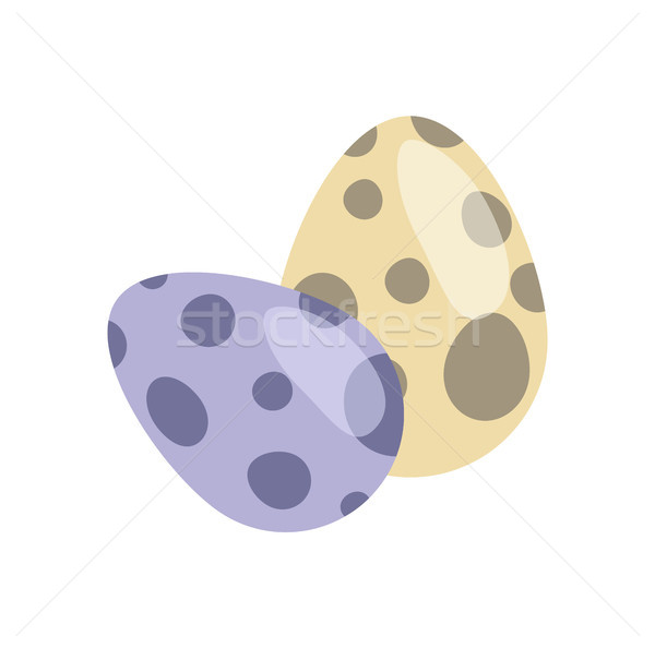 Dinosaur Eggs Collection, Vector Illustration Stock photo © robuart