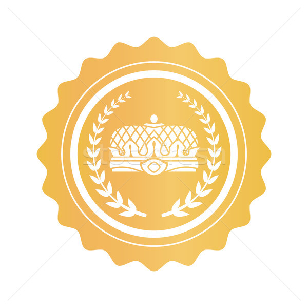 Gold Stamp with Emperors Crown and Laurel Branches Stock photo © robuart