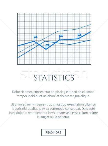Statistiche informazioni crescita blu infografica griglia Foto d'archivio © robuart