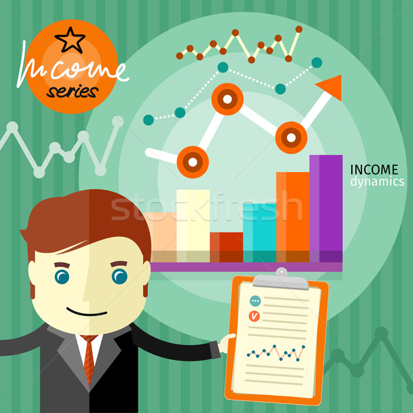 Income dynamics concept Stock photo © robuart