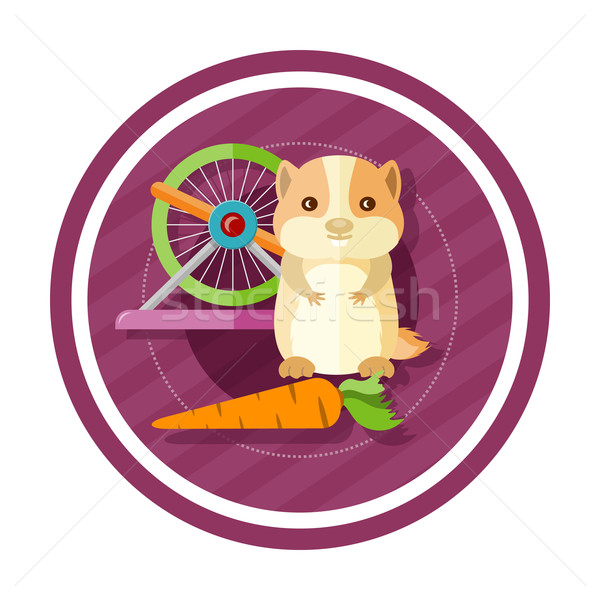 Golden hamster eating carrot Stock photo © robuart
