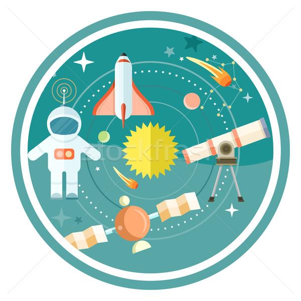 Przestrzeni astronomia teleskop świecie rakietowe Zdjęcia stock © robuart