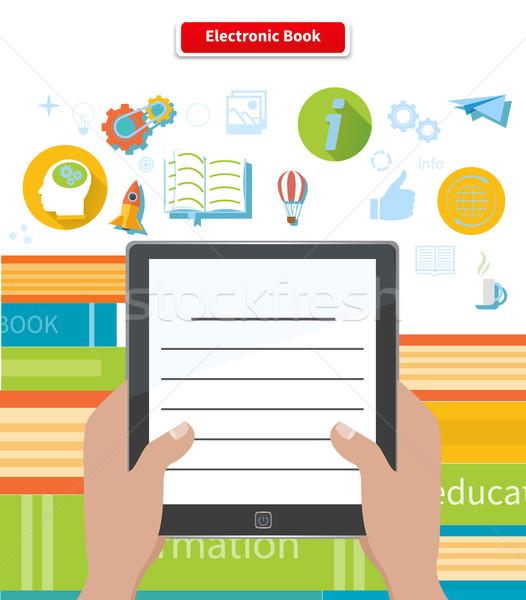 Elektronik kitap okuma e-kitap eğitim teknoloji Stok fotoğraf © robuart