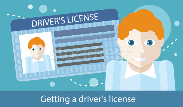Cartoons Man with Driver License Stock photo © robuart