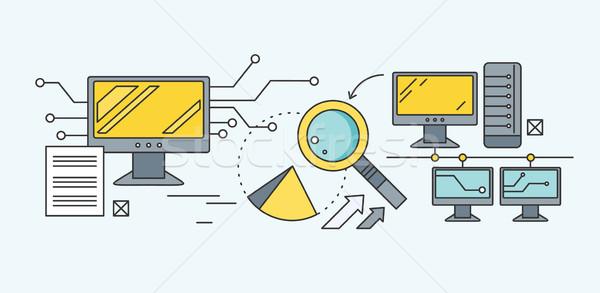 Keresőoptimalizálás analitikus elemzés fejlesztés startup diagram Stock fotó © robuart