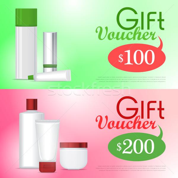 Regalo vale cosméticos plantilla certificado Foto stock © robuart
