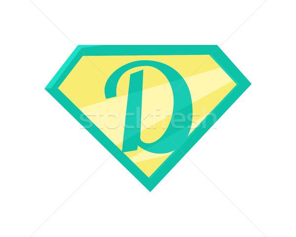 отец superhero символ супер папу икона Сток-фото © robuart