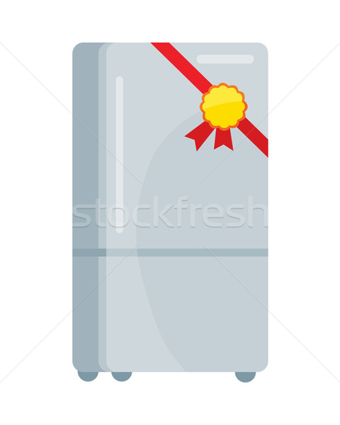 Refrigerator Vector Illustration in Flat Design Stock photo © robuart