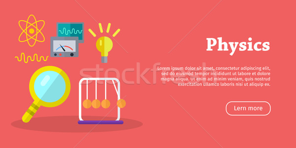 Physics Science Banners. Physical Equipment. Vector Stock photo © robuart