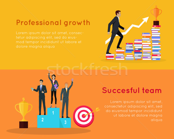 Professional Growth and Successful Team Banners. Stock photo © robuart