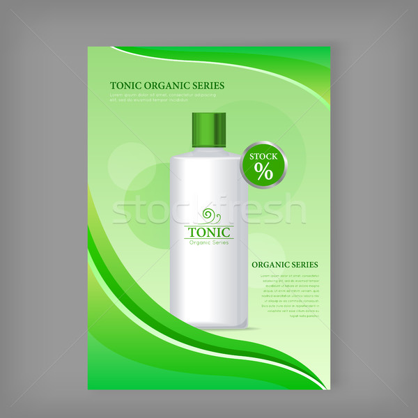 Tonic Sea Series Bottle Isolated. Discount Banner Stock photo © robuart