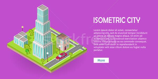 Isometric City Vector Web Banner Stock photo © robuart