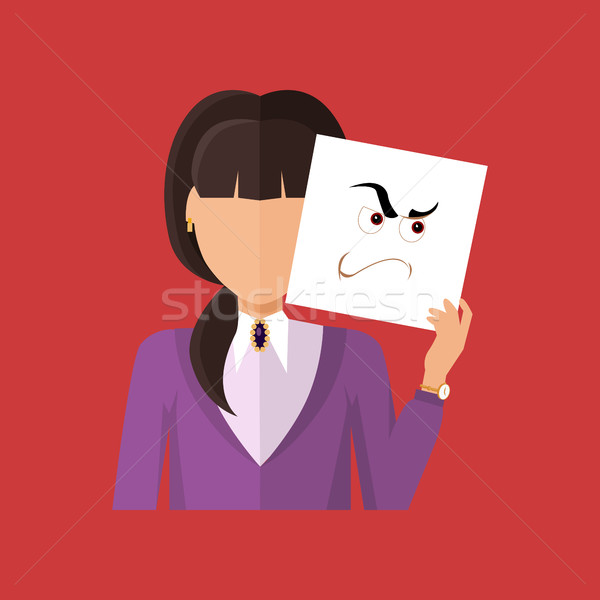 Woman Character Avatar Vector in Flat Design Stock photo © robuart