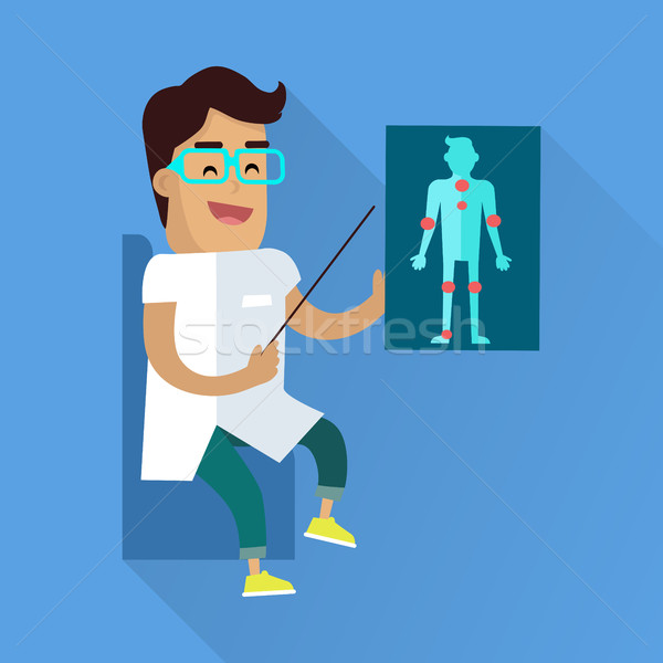 Doctor at Work Vector Flat Style Illustration Stock photo © robuart