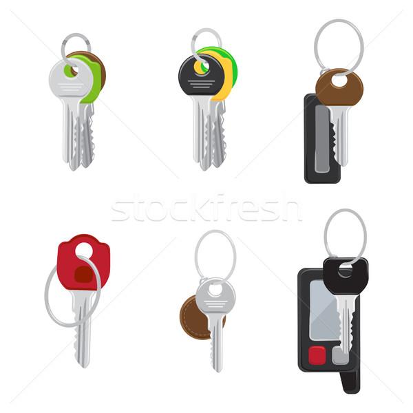 Establecer moderna puerta las llaves del coche vectores Foto stock © robuart