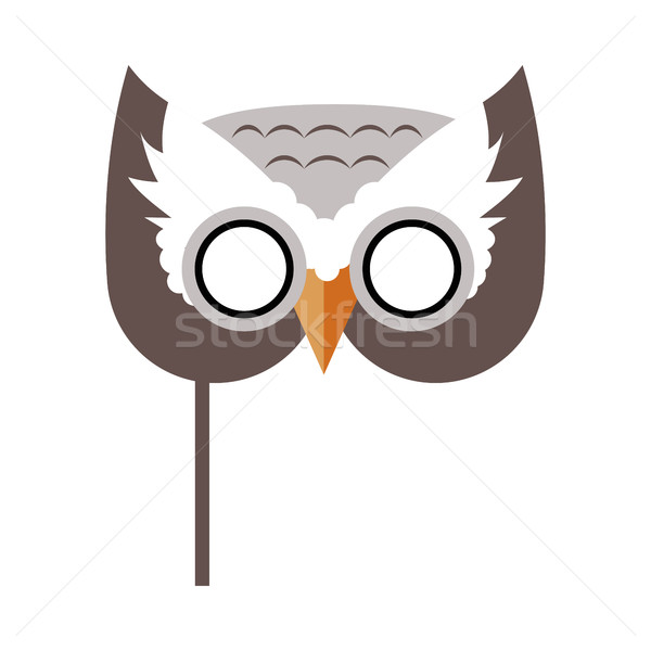 Owl Bird Carnival Mask Childish Masquerade Element Stock photo © robuart