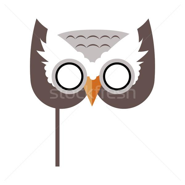 Gufo uccello carnevale maschera infantile elemento Foto d'archivio © robuart