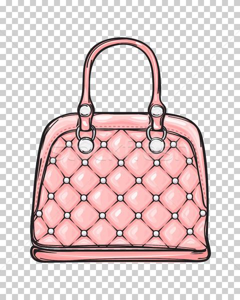 Moda deri pembe çanta yalıtılmış örnek Stok fotoğraf © robuart