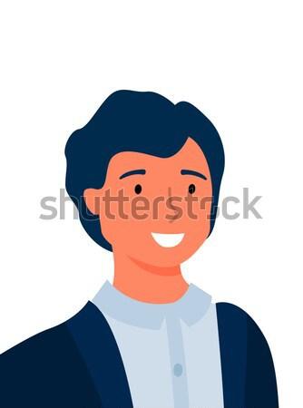 Adam yüz duygusal vektör ikon stil Stok fotoğraf © robuart