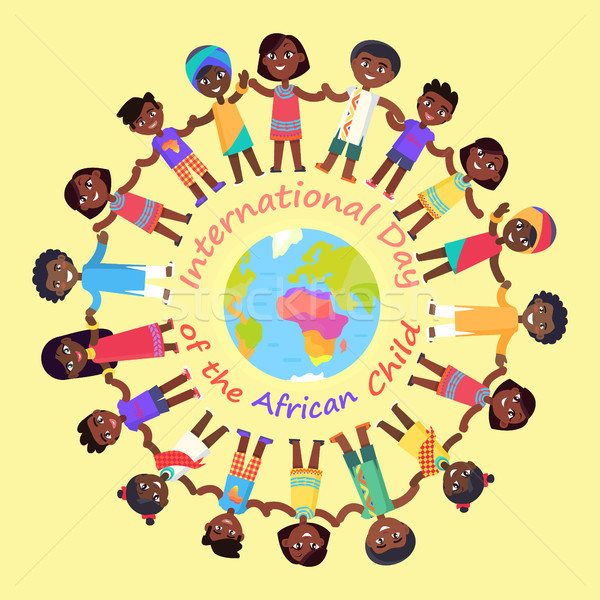 International Day of African Child Illustration Stock photo © robuart