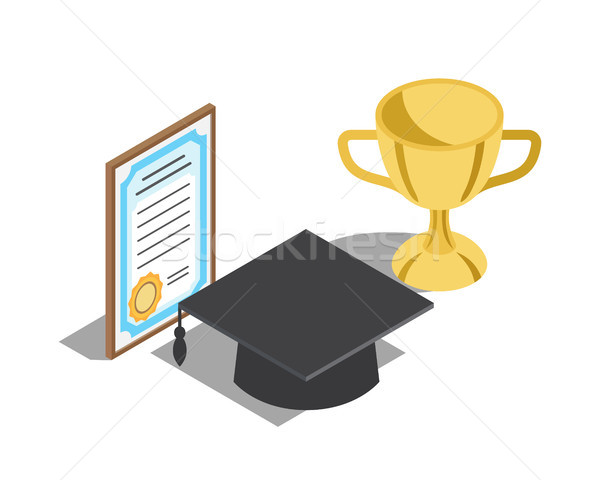 Rewards for Successful Graduation Illustrations Stock photo © robuart