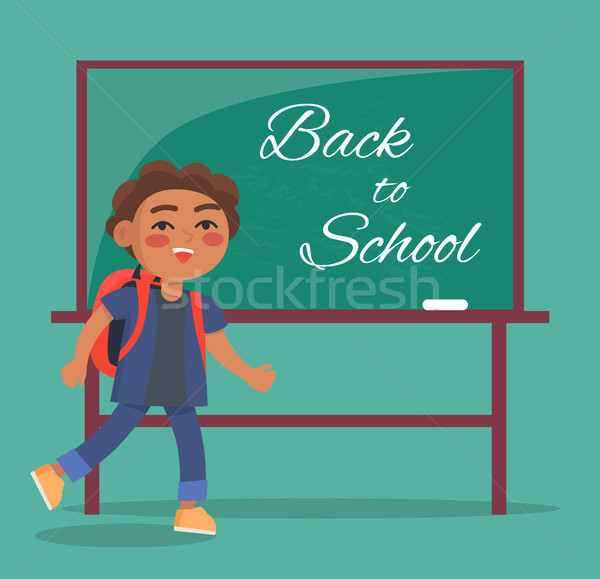 Back to School Banner with Text Depicting Kid Stock photo © robuart