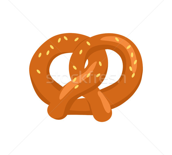 Bretzel biscuit forme noeud icône Photo stock © robuart