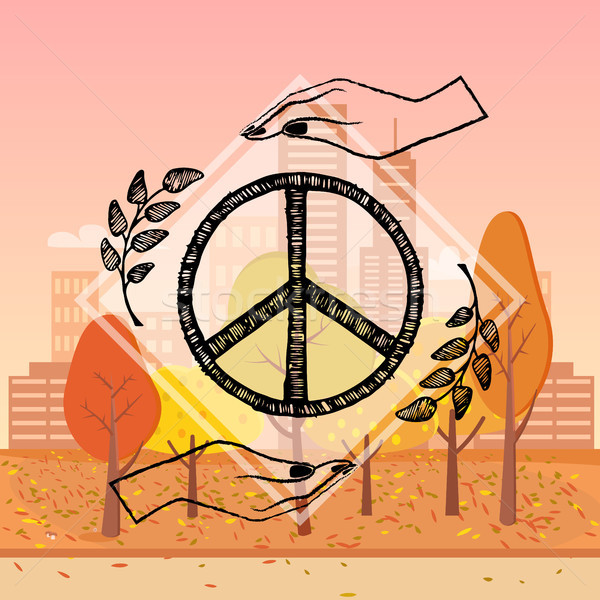 International Peace Day Vector Illustration Autumn Stock photo © robuart