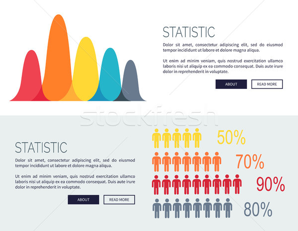 Statistic Charts with Growing Diagrams and People Stock photo © robuart