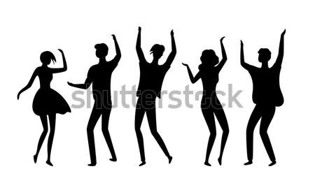 Smiling Dancing Women Icons Vector Illustration Stock photo © robuart