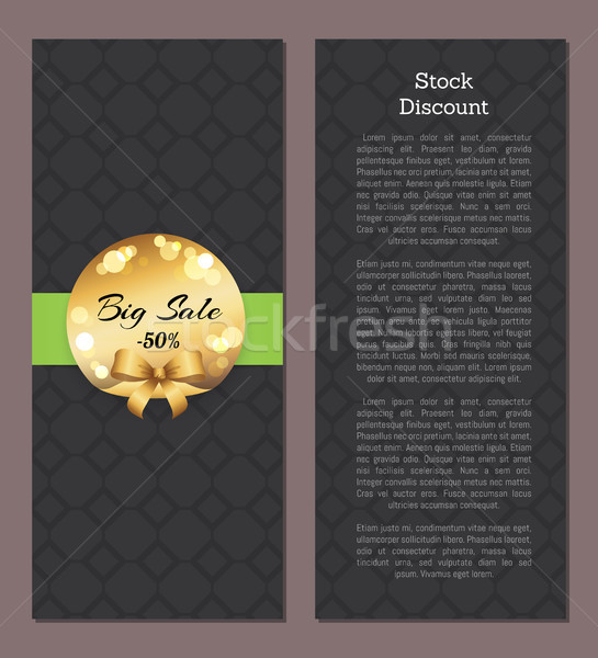 Stock Discount Leaflet Cover with First Back Page Stock photo © robuart