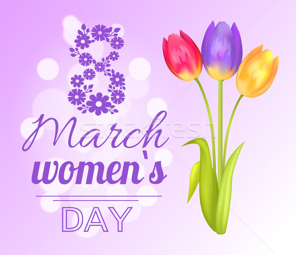 8 March Poster Womens Day Vector Illustration Stock photo © robuart