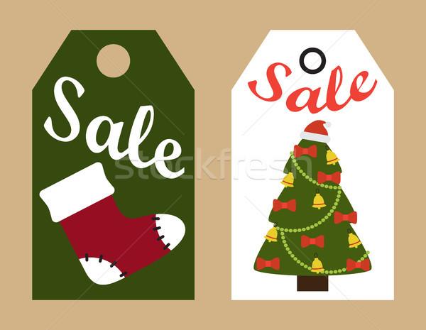 Verkoop promo klaar kerstboom Stockfoto © robuart