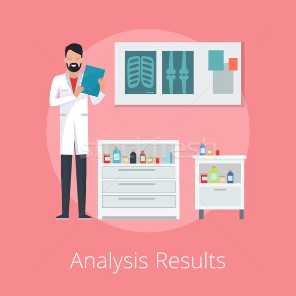 Analyse resultaten poster arts papieren Stockfoto © robuart