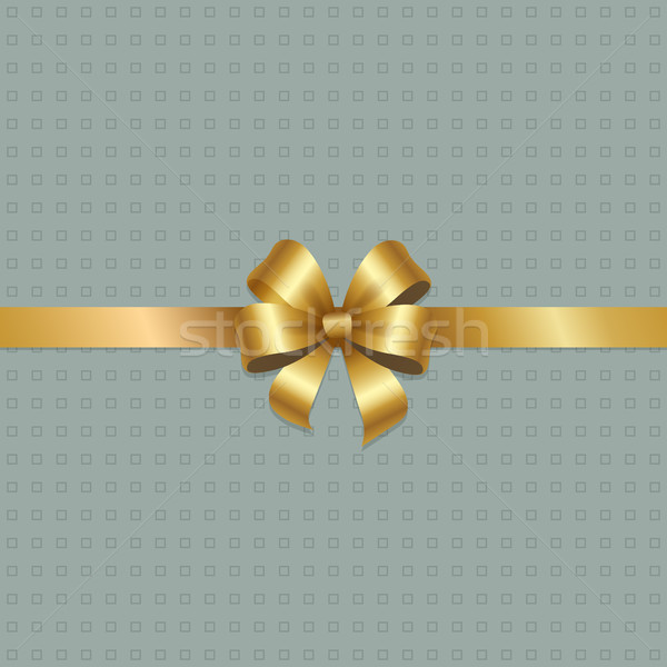 Golden Bow Knot on Silk Ribbon Vector Illustration Stock photo © robuart