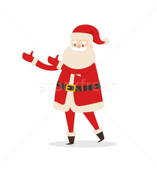 Santa Claus Cartoon Xmas Character Vector Icon Stock photo © robuart