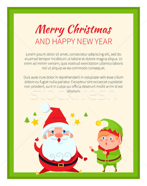 Merry Christmas and Wonders Vector Illustration Stock photo © robuart