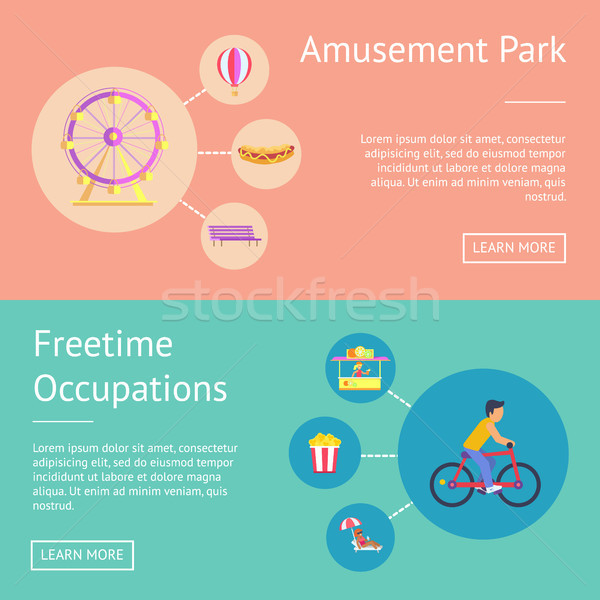 Amusement Park and Freetime Vector Illustration Stock photo © robuart