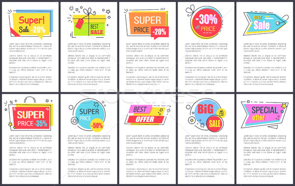 Super Sale and Special Offer Vector Illustration Stock photo © robuart